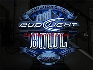 Bud Light Super Bowl Dallas Cowboys Stadium Neon Sign
