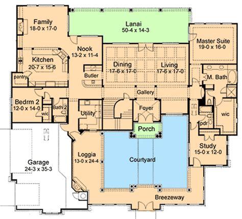 plan wwg elegant courtyard house plan
