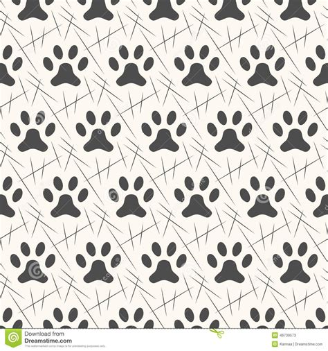 Printing Web Page Background Colors And Images Seamless Animal Pattern Of Paw Footprint Stock Vector