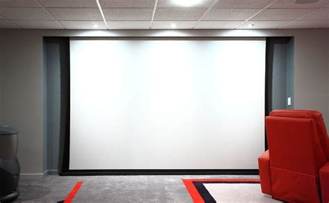 Ultimate Basement Game Room A 10 Foot Wide Screen In