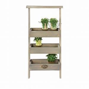 Etagere Pour Fleur : etag re plantes chelle bois ~ Zukunftsfamilie.com Idées de Décoration