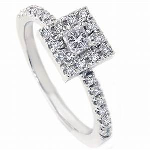 womens 1 2ct princess cut diamond engagement ring 14k With wedding rings for women princess cut