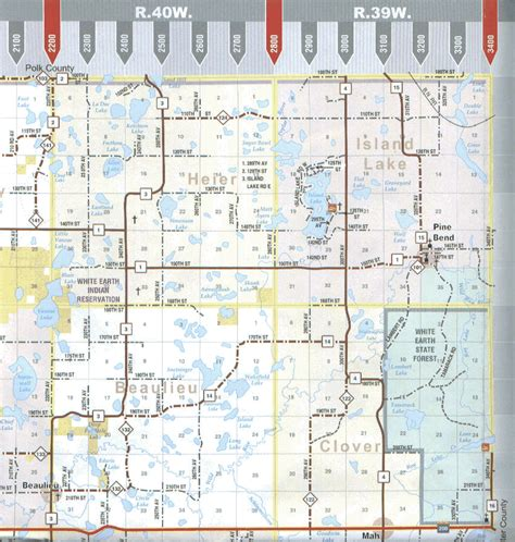 Mahnomen County MN Map