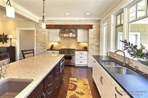 two different granite colors in kitchen декоративный камень в интерьере ремонт без проблем 9502