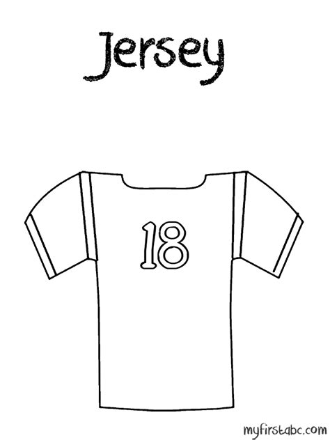 printable coloring pages  sport jerseys coloring home