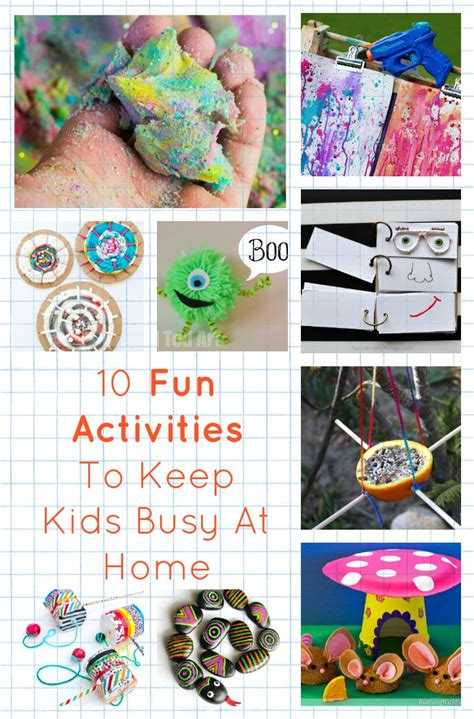 fun activities   kids busy  home diy thought