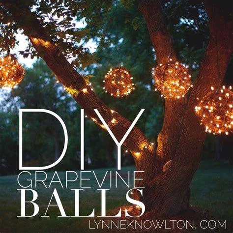 diy outdoor lighting grapevine balls hometalk