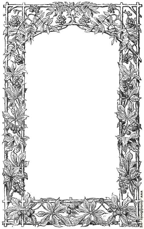 victorian vine leaf page border image  pixels