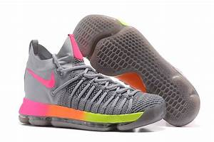 2017 Nike Air Zoom KD 9 Elite Grey/Pink-Orange-Volt ...