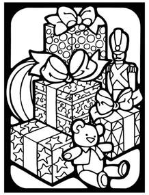 Dover Stained Glass Christmas Coloring Pages