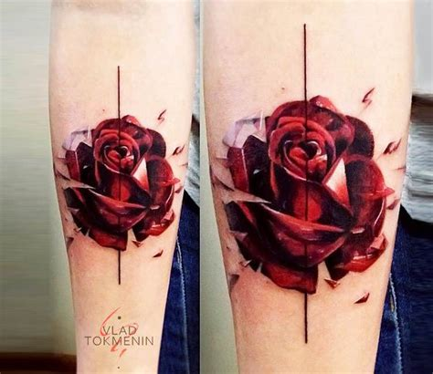 lovable red rose tattoos  designs  meanings