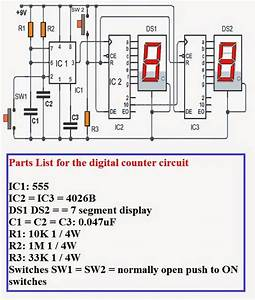 Electrical Engineering World  How To Make Homemade 0 To 99 Digital Pulse Counter Circuit