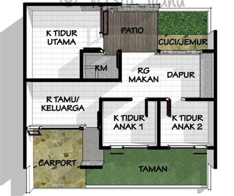 gambar sketsa denah rumah sederhana terlengkap