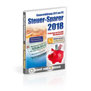 steuer 2018 software steuer sparer 2018