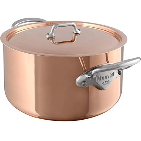 mauviel mheritage stewing pan stainless steel copper