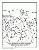 Coloring Beatitudes Bible Saints Jesus Disciples Twelve Lds Heals Sick Catholic Related Preschool Patrick Coloringhome Primary Twit Sheets Google Doubting sketch template