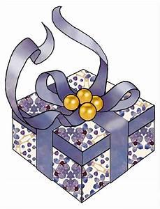 ArtbyJean - Purple Wood Roses: Christmas Gift Box Clip Art ...