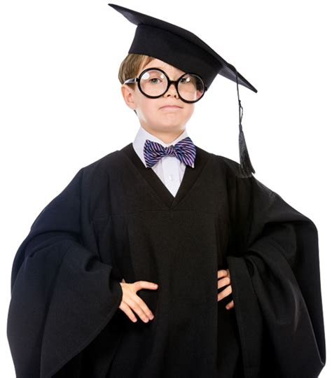 smart child  graduate uniform  stock