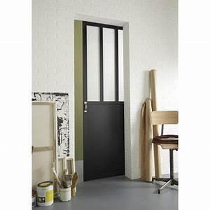 Porte Vitrée Leroy Merlin : porte coulissante vitrer atelier 204x73 cm leroy ~ Melissatoandfro.com Idées de Décoration