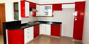 fantastic small with kitchen cabinets red and white color With modular kitchen designs red white