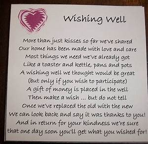 25 best ideas about wishing well poems on pinterest With wedding invitation wishing well quotes