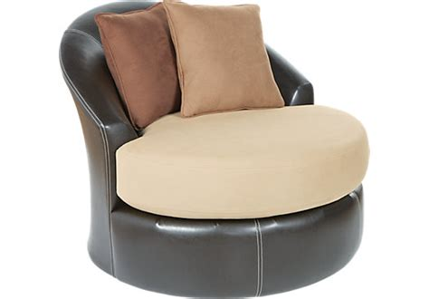 Gregory Beige Small Swivel Chair Chairs