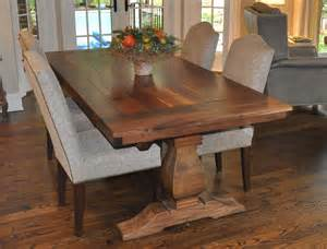 Rustic Dining Room Tables With Benches by Rustic Weston Trestle Farmhouse Table Atlanta Ga Denver