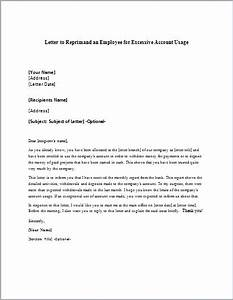 Letter of reprimand for bad attitude for Letter of reprimand template