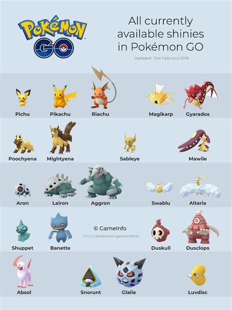 list   shiny pokemon  pokemon