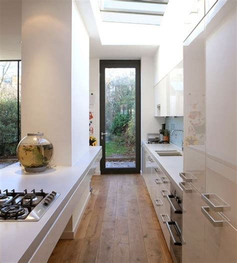 galley kitchen extension ideas 31 stylish and functional narrow kitchen design