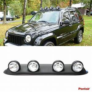 Universal 39 U0026quot  Roof Light Bar W   4x Round Clear Lens Fog Lamps Bulb Switch Wiring  Pentair
