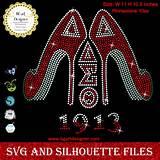 Svg file open in coreldraw graphics suite x8. lllᐅDelta sigma theta high heel - Bgartdesigner Custom Svg