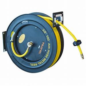 BLACK BULL 100 ft Retractable Air Hose Reel with Auto