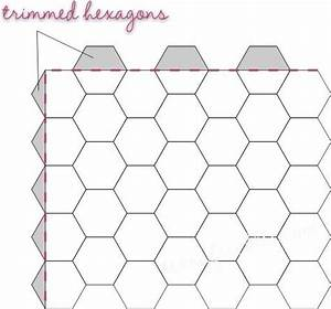 Texas freckles hexagons thoughts week one trimming for Hexagon templates for quilting free