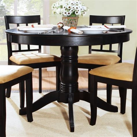 42 round dining table tibalt 42 in round pedestal dining table modern