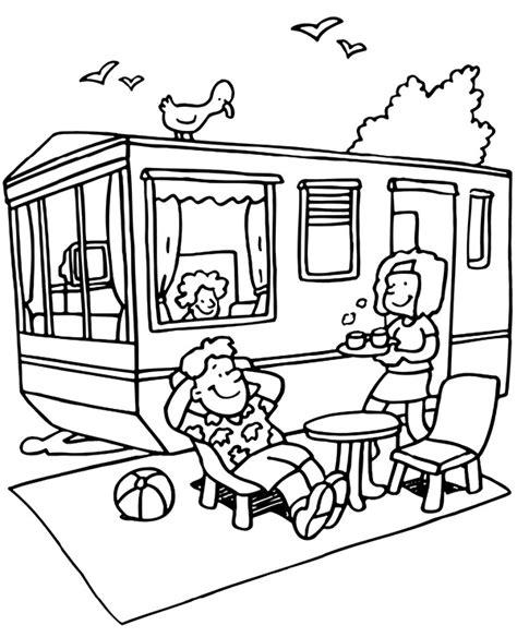 wakacje lato kemping kolorowanki do drukowania dla dzieci