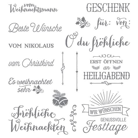 froehliche weihnachten photopolymer stamp set german