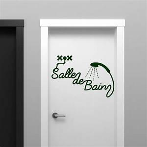 Stickers Porte Salle De Bain : sticker salle de bain douche stickers salle de bain mur ~ Dailycaller-alerts.com Idées de Décoration