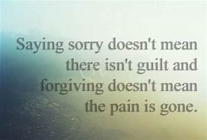 Say sorry - Oth... Hurt Meaning Quotes