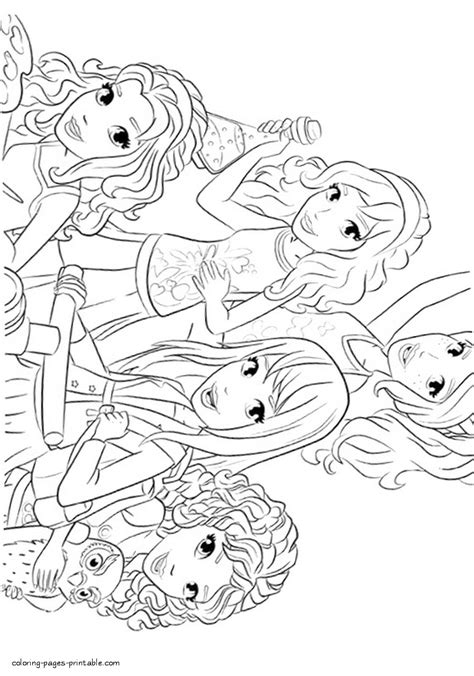 Kleurplaat Lego Friends by Coloring Lego Friends Coloring Pages Printable