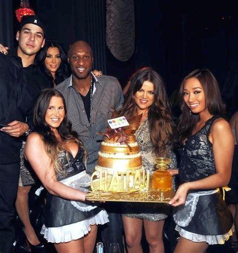 Khloé, Robert and Kim Kardashian at Chateau Nightclub at ...