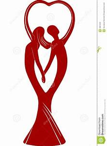 Couple In Love Holding Hands Stock Illustration ...