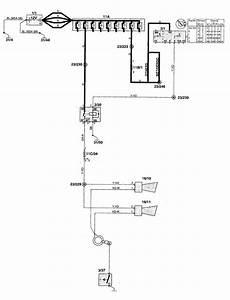 Volvo V70  1998 - 1999  - Wiring Diagrams - Horn