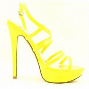 Strappy High Heel Platform Sandals Womens Shoes Yellow