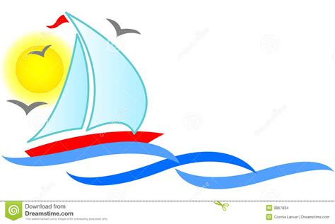 Sailboat Abstract/eps Stock Vector. Illustration Of Boat