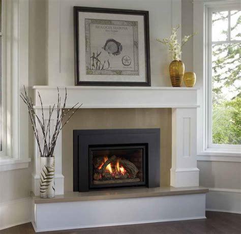 decoration chimney fireplace mantel with window glass