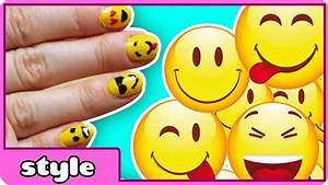 Emoji nail art tutorial : Easy emoji nail art diy nails tutorial