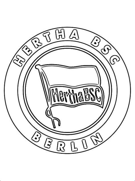 kleurplaten hertha bsc logo gratis kleurplaten