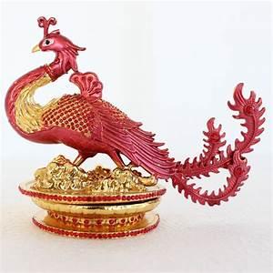 Bejeweled Phoenix Statue