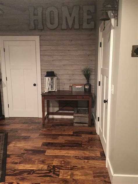 handmade plywood floor farmhouse decorating  finished